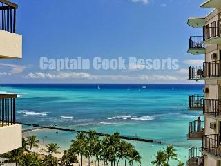 Deluxe Waikiki Ocean View 2/2 Condo with A/C, WIFI, pool, parking, sleeps 6! - Waikiki vacation rentals
