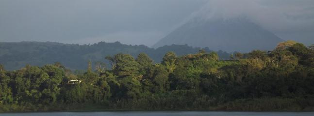 View of the house from the lake road. - The best view on historic Lake Arenal, Costa Rica! - Nuevo Arenal - rentals