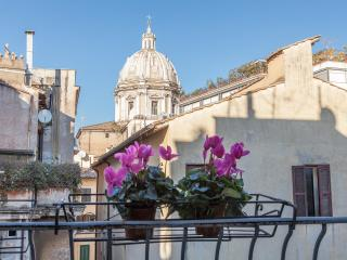 Navona Library Balcony Rooftops view  WifiA/C - Rome vacation rentals