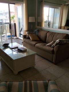 Living Room - Sand Dollar Villas-Oceanfront Condo - Fernandina Beach - rentals