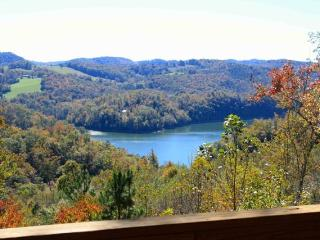 Vista Lael Lodge is a gorgeous vacation cabin with views of Norris Lake surrounded by forest. - New Tazewell vacation rentals