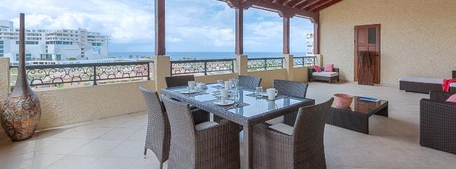 SPECIAL OFFER: St. Martin Villa 425 The Huge Covered Terrace Offers Comfy, Lounge Type Seating And Alfresco Dining. - Cupecoy vacation rentals