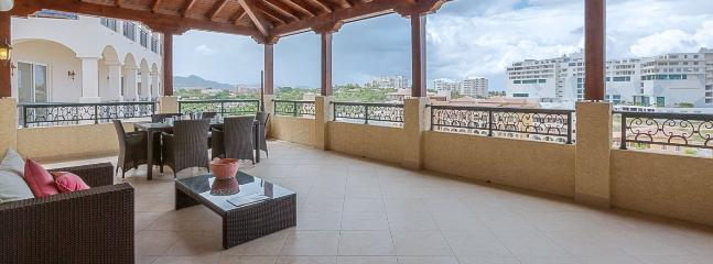 Villa Caribbean Pearl SPECIAL OFFER: St. Martin Villa 426 The Huge Covered Terrace Offers Comfy, Lounge Type Seating And Alfresco Dining. - Cupecoy vacation rentals