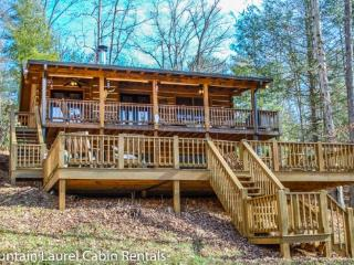 TRANQUILITY ACRES- 3 BR/2 BA CABIN WITH A LARGE YARD ON PATTERSON CREEK, SLEEPS 6, HOT TUB, WIFI, GAS GRILL, WOOD BURNING FIREPL - Blue Ridge vacation rentals
