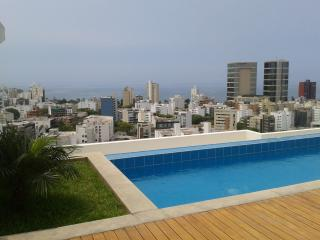 We offer aparts w/ balcony, pool gym in Miraflores - Lima vacation rentals