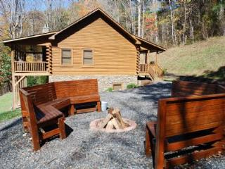 River Raves, Private, riverfront, Pet Friendly Cabin, w/ FirePit,PoolTable,WIFI,Flatscreen TV - Grassy Creek vacation rentals