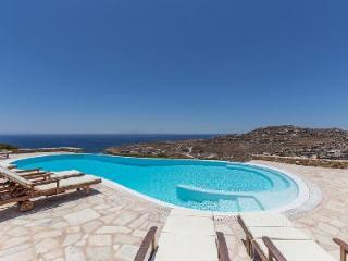 Sea view Super Paradise Villa One boasts a pool with built-in jacuzzi, near beach - Mykonos vacation rentals