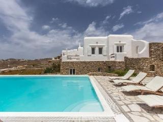 Super Paradise Villa Three with sea & island views, tranquil pool, near beach - Mykonos vacation rentals