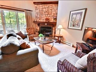 Private Balcony with Summer Barbecue  - Common Area Pool and Hot Tub Available in the Summer Months (6130) - Mont Tremblant vacation rentals