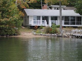 Sunny Waterfront Cottage with Guest House on Lake Winnipesaukee (SHI37Wf) - Meredith vacation rentals
