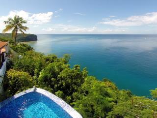 Emerald Hill Villa - 270° View of the Bay & Ocean - Marigot Bay vacation rentals