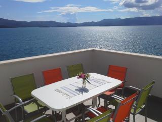 Stunning sea view apartment, garden with sun beds - Komarna vacation rentals