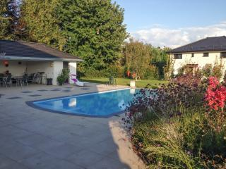 One-bedroom apartment in Vaud, near the banks of Lake Geneva, with fenced garden and pool - Founex vacation rentals