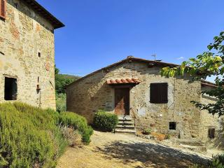 House in farm property with pool, 2 bedrooms, view - Loro Ciuffenna vacation rentals