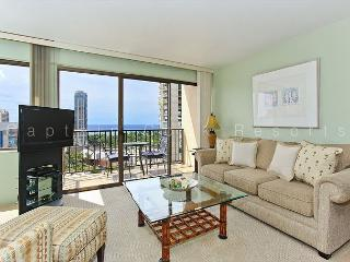 Secure, 17th floor ocean-view studio with AC, washlet, WiFi & parking! - Waikiki vacation rentals