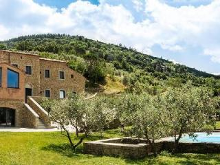 Villa Fonte al Vento with fabulous Tuscan landscapes, two pools and a terrace - Cortona vacation rentals