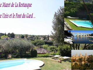 Uzes & Pont du Gard : 2 Gites +swimmingpool+river - Collias vacation rentals