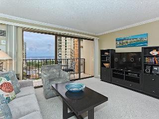Ocean view high floor 1-bedroom, AC, WiFi, parking, washer/dryer and washlet! - Waikiki vacation rentals