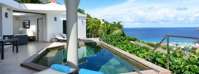SPECIAL OFFER: St. Barths Villa 122 This Contemporary All White Villa Has A Stunning Ocean View On Flamands Beach. - Flamands vacation rentals