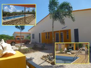 Sunny and colorful apartment with pool and large g - Kralendijk vacation rentals