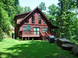 Morning Sun Retreat and Guesthouse – Enjoy Mountain Privacy at this All-Wood Cabin with Fire Pit, Wi-Fi, and Xbox 360. The additional Guest House has a Pool Table, Large Screen TV and sleeps 2 more! - Bryson City vacation rentals