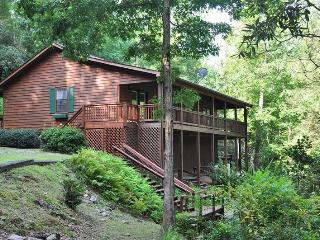Greens Creek Fishing Retreat - 10 Minutes from Rafting on the Tuckaseegee River, This Log Cabin Features Fly Fishing Right Out t - Bryson City vacation rentals