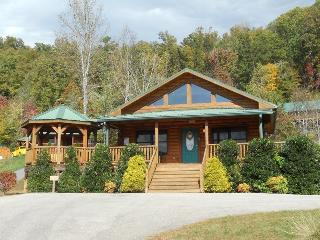Native Winds Cabin -- Romantic Log Cabin with a Fireplace in the Bedroom, Hot Tub, View, and Wi-Fi - Only 10 Minutes from Harrah - Dillsboro vacation rentals