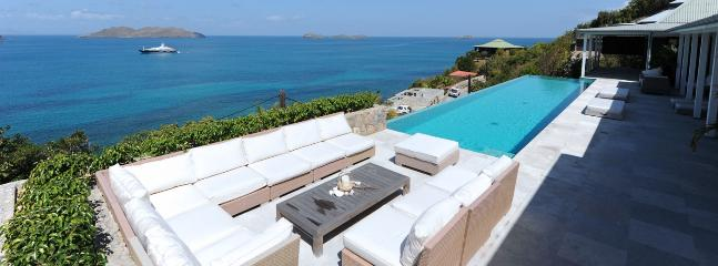 SPECIAL OFFER: St. Barths Villa 156 Hung Above The Sea On The Cliff; Offers An Extraordinary Panoramic View. - Saint Jean vacation rentals
