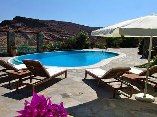 Decorated in traditional Mkyonian style above Panormos beach. LIV PAN - Mykonos vacation rentals