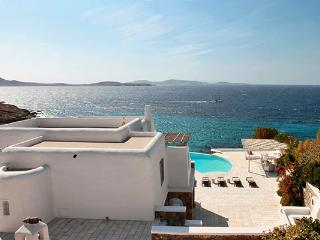 This villa, in the Aleomandra area, faces Delos island for colorful sunset views. LIV SUN - Mykonos vacation rentals