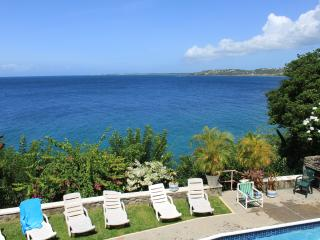 Stunning seafront villa with panoramic ocean views - Bacolet Bay vacation rentals