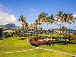 Free Car with Poipu Sands 122 Ocean View two bedroom on the beautiful Poipu greenbelt - Poipu vacation rentals