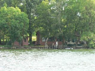 Great Lake Cabin and guest house 20' from lake - Burtrum vacation rentals
