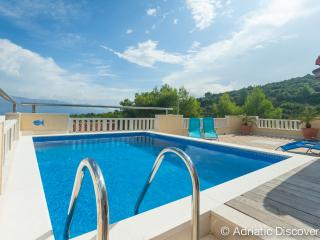 Villa with pool and sea view for 10 - Postira vacation rentals