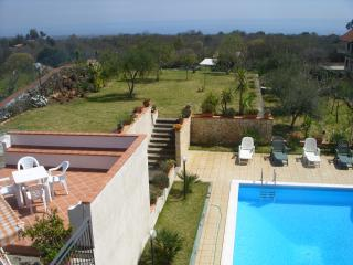 Villa A.R. pool, garden,views Etna and  Ionian sea - Trecastagni vacation rentals