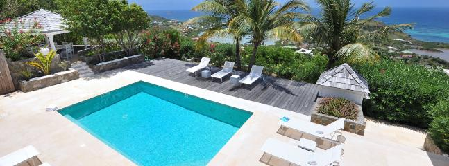 AVAILABLE CHRISTMAS & NEW YEARS: St. Martin Villa 233 A Superb View On The Lagoon Of Grand Cul De Sac, And The Bay Of Petit Cul  - Grand Fond vacation rentals