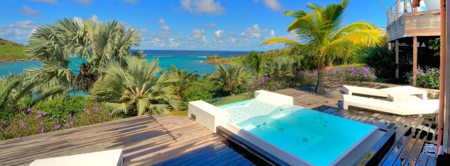 AVAILABLE CHRISTMAS & NEW YEARS: St. Barths Villa 241 Steps From The Beach Of Petit Cul De Sac, Overhanging The Beach, The Bay A - Petit Cul de Sac vacation rentals