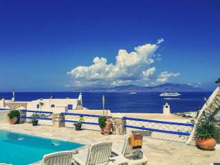 Villa with sunset views and private pool - Ornos vacation rentals