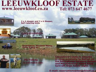 Leeuwkloof Trout Estate - Dullstroom vacation rentals