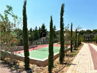 Modern villa with tennis, pool, garden & sea view - Hydra vacation rentals