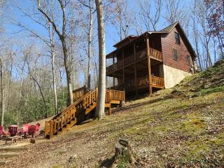ALPINE LODGE- 3BR/3BA- BEAUTIFUL AND PRIVATE CREEK FRONT CABIN, 5G WIFI, AIR HOCKEY, FOOSBALL, GAME/CARD TABLE, GAS LOG FIREPLAC - Blue Ridge vacation rentals