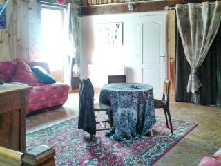Rustic house near the medieval town of Thiers, with mountain-view terrace & central heat - sleeps 10 - Auvergne vacation rentals