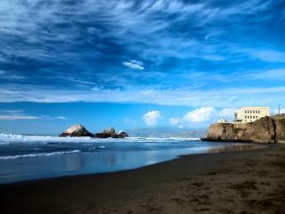 tax free OCEANFRONT- Balcony 2bd/2bth Monthly only - Montara vacation rentals