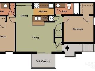 Well-appointed 2 bedrooms + 2bathrooms apartment - Kissimmee vacation rentals