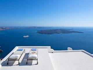 Phenomenal volcanic views with a cool, cavernous interior. MED GAI - Santorini vacation rentals