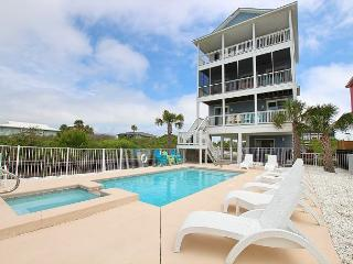 Beachfront, Heated Pool and Spa, Elevator, Screened Porch,pool side bar - Cape San Blas vacation rentals