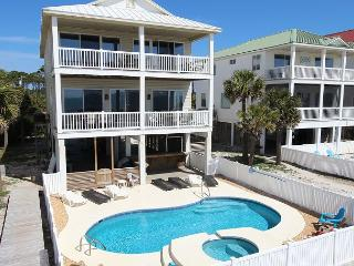 Beachfront, Private Heated Pool and Spa, 5 Masters; North Cape - Cape San Blas vacation rentals