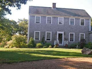 Chappy saltbox with large yard, porch, patio and deck. - Chappaquiddick vacation rentals