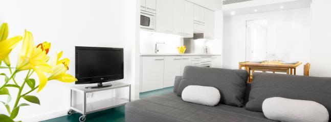 Living room - Raval Apartment 3 bedroom - city center - Barcelona - rentals