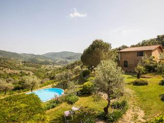 Rustic Chianti apartment rental, sleeps 5, features private garden and shared pool - San Polo in Chianti vacation rentals